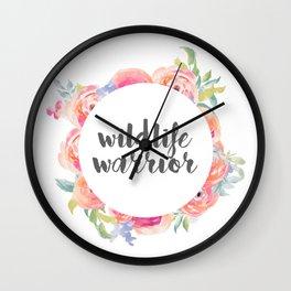 Wildlife Warrior Wall Clock