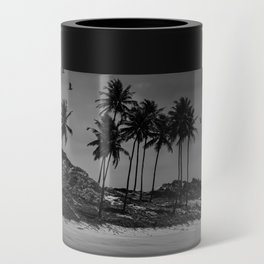 Black and white photo of a Brazilian northeast beach Can Cooler