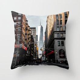 Lower Manhattan One WTC Throw Pillow