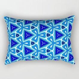 Bright blue Geometric Pattern Design Rectangular Pillow