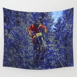 Finish Line Jump - Motocross Racing Champ Wall Tapestry