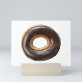 Chocolate Covered Ring Donut Mini Art Print