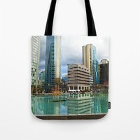 vancouver Tote Bags featuring Vancouver by Chris Root