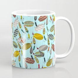 chevron spinners blue Coffee Mug