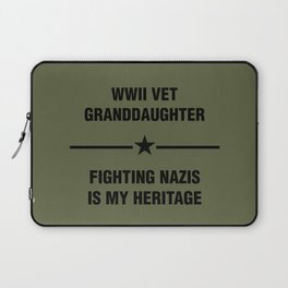 WWII Granddaughter Heritage Laptop Sleeve
