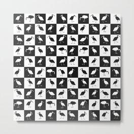ibises (checkerboard) Metal Print