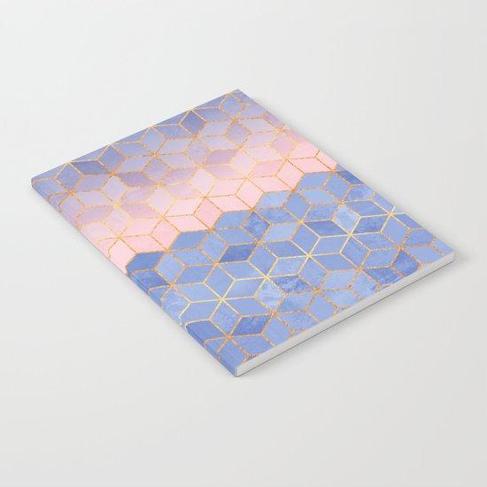 Rose Quartz & Serenity Cubes Notebook