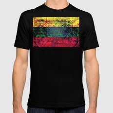 circuit board  lithuania (flag) MEDIUM Black Mens Fitted Tee