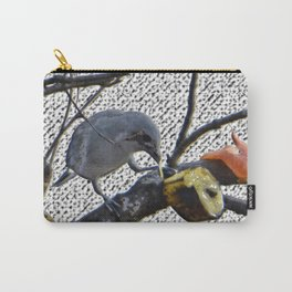bird gray sanhaço Carry-All Pouch