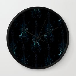Creative violin silhouette Wall Clock