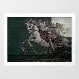 Into Dark Waters Art Print