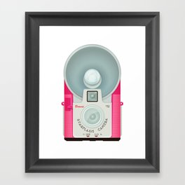 VINTAGE CAMERA PINK Framed Art Print