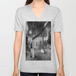 Old Dutch Church Of Sleepy Hollow Unisex V-Neck