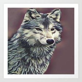 The Tundra Wolf Art Print