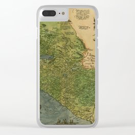 Map Of Mexico 1595 Clear iPhone Case