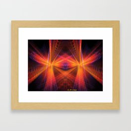 Right In Your Face Framed Art Print