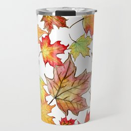 Autumn Maple Leaves Travel Mug