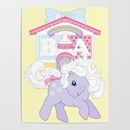 g1 my little pony baby blossom at lullabye nursery Poster