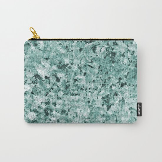 Polished granite verde - turquoise stone Carry-All Pouch