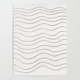 Graphite Waves Poster