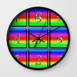 Sudoku! It is a colorful and beautiful. Wall Clock