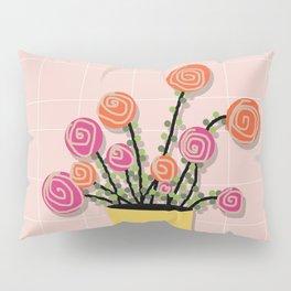 Roses in a Vase Pillow Sham
