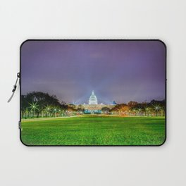 The Capitol Building At Night Laptop Sleeve