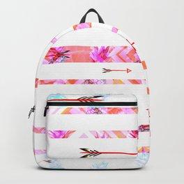 Tropical Boho Stripes Backpack