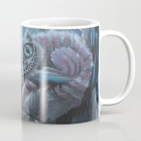 cheshire Mugs featuring Cheshire Cat by Annelies202