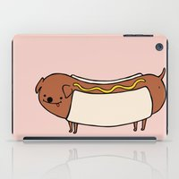 hot dog iPad Cases featuring HOT DOG by Keasy