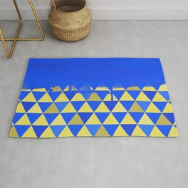 Triangle Dip Blue Rug