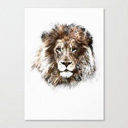 Portrait: Lion Canvas Print
