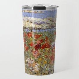 Celia Thaxter's Garden, Isles of Shoals, Maine - Childe Hassam Travel Mug