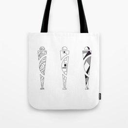 trio. art nouveau black / white mix fill Tote Bag