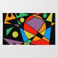 kandinsky Area & Throw Rugs featuring Abstract #130 by Ron (Rockett) Trickett