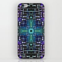 sci fi iPhone & iPod Skins featuring Sci Fi Metallic Shell by Phil Perkins