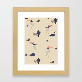 Dezert swim Framed Art Print