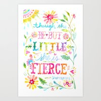 though she be but little Art Prints featuring Though She be but Little... by Grace Wolf