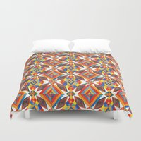 rug Duvet Covers featuring Indian Rug by Pani Grafik