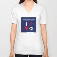 mercedes V-neck T-shirts featuring No145 My Hangover PART 1 minimal movie poster by Chungkong