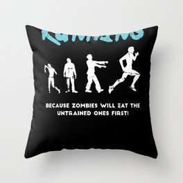 Track And Field Running Quote Runner Gift Throw Pillow