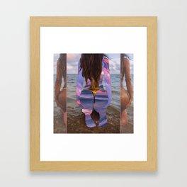 Beach Booty Framed Art Print