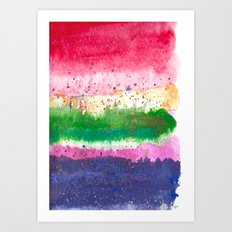 Jewel Tones Watercolour Art Print