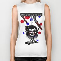 clown Biker Tanks featuring CLOWN by AKIKO
