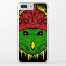 stay cool owl Clear iPhone Case