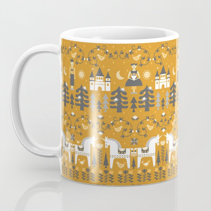 Yellow + Gray Fairy Tale Coffee Mug
