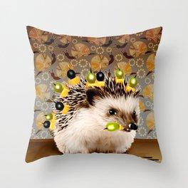Hedgehog Sticks Throw Pillow