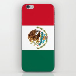 Flag of Mexico - Authentic Scale and Color (HD image) iPhone Skin