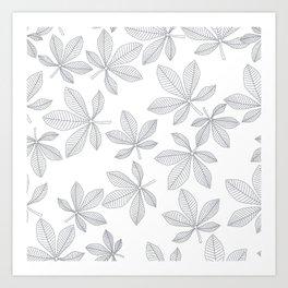 Chestnut Leaves Art Print