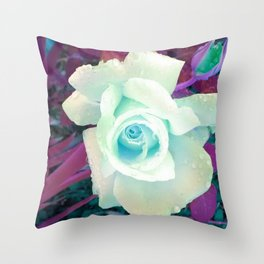 La La Blue Throw Pillow
